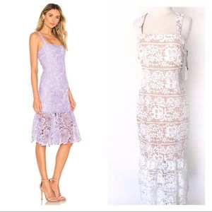 Lover + Friends Under The Stars Midi Lace Dress S